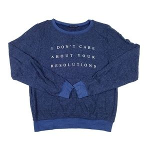 Wildfox Women's No Resolution 5AM Sweatshirt